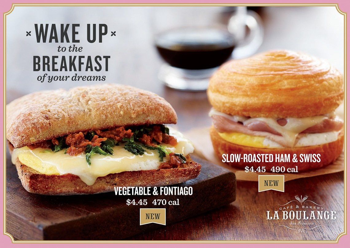 Starbucks La Boulange:Breakfast sandwiches 1