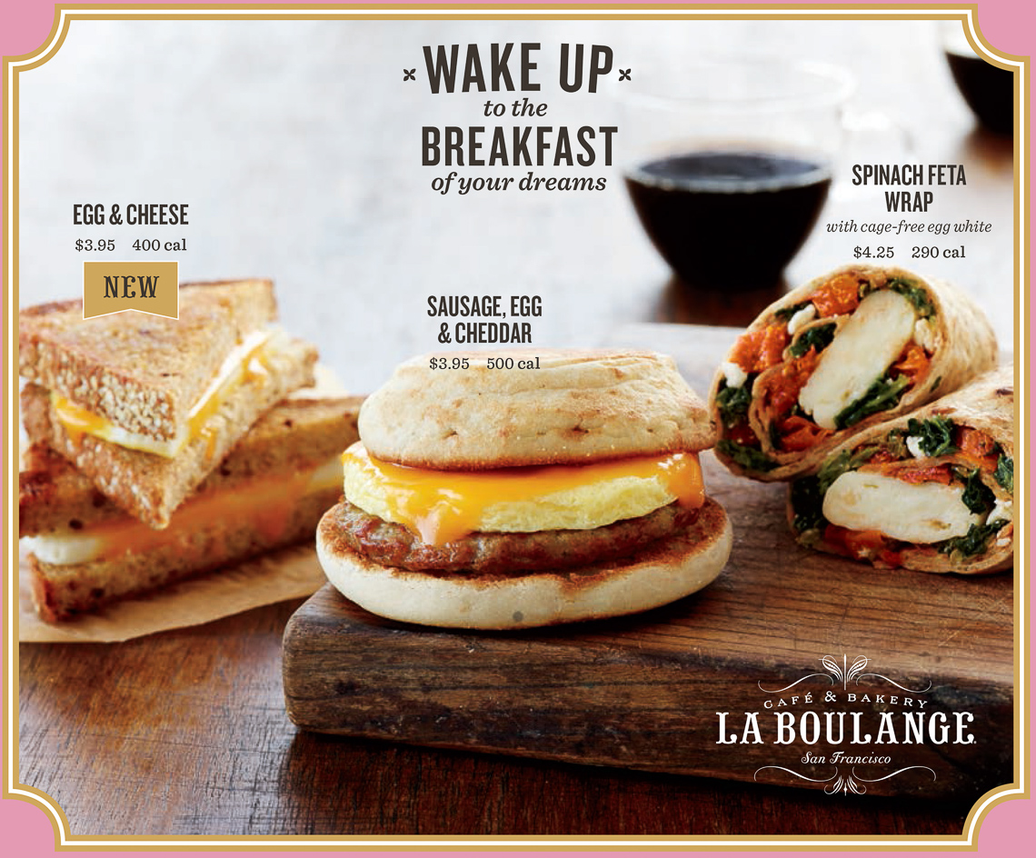 Starbucks La Boulange:Breakfast sandwiches 2